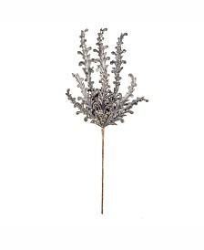 "Vickerman 20"" Silver Petal Flower Spray 3/Bg"