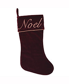 Vickerman Decorative Christmas Stocking Featuring Elegant 100% Cotton Velvet