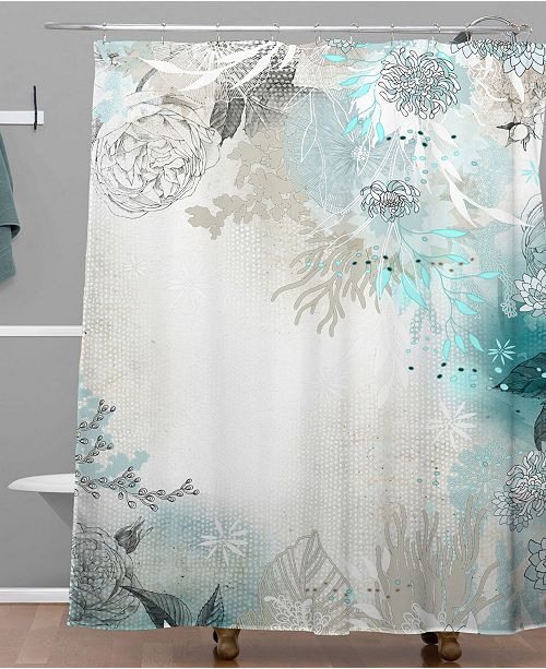 Deny Designs Iveta Abolina Pattern of Flamingo Shower Curtain