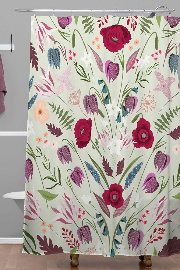 Deny Designs Iveta Abolina Poppy Meadow II Shower Curtain