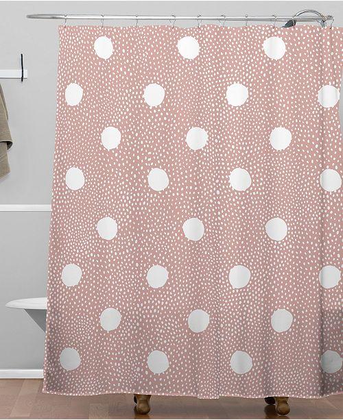 Deny Designs Iveta Abolina Mauve Polka Shower Curtain