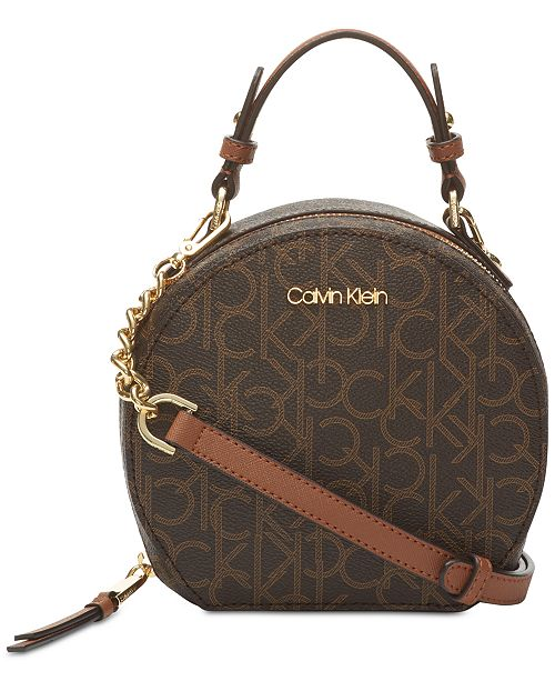 4546cbaa638 Calvin Klein Round Signature Crossbody & Reviews - Handbags ... how to  clean anne