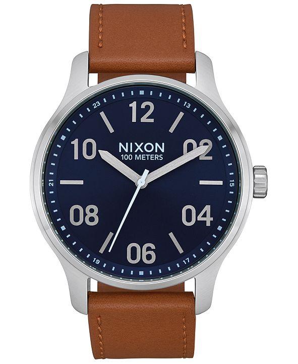 Nixon Men's Patrol Leather Strap Watch 42mm