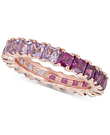 Pink Amethyst (1-1/4 ct. t.w.) & Rhodolite (1-7/8 ct. t.w.) Band in 14k Rose Gold-Plated Sterling Silver
