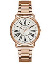 e3317c7dcbd4 GUESS Women s Rose Gold-Tone Stainless Steel Bracelet Watch 41mm