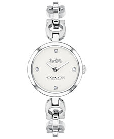COACH Women's Signature Chain Stainless Steel Chain Bracelet Watch 26mm