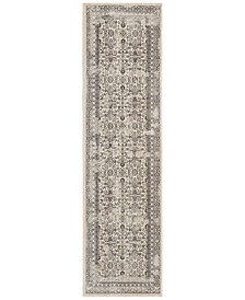 "kathy ireland Home KI34 Silver Screen KI342 Gray 2'2"" x 7'6"" Runner Area Rug"