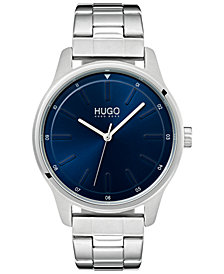 HUGO Men's #Dare Stainless Steel Bracelet Watch 42mm