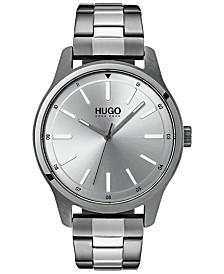 HUGO Men's #Dare Two-Tone Stainless Steel Bracelet Watch 42mm