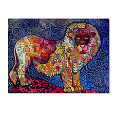 Oxana Ziaka 'Lion The King' Canvas Art Collection