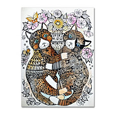 Oxana Ziaka '2 Garden Cats' Canvas Art Collection