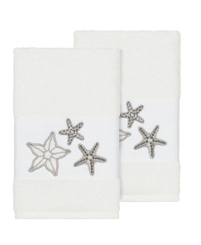 Linum Home - LYDIA 2PC Embellished Hand Towel Set