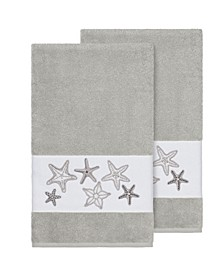 Lydia 2-Pc. Embellished Bath Towel Set