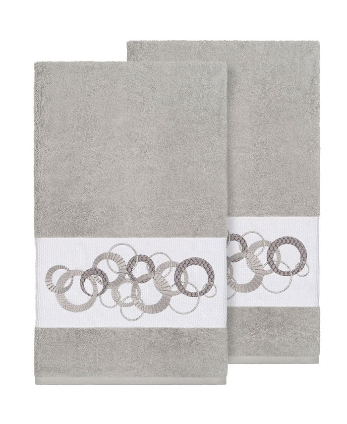 Linum Home - ANNABELLE 2PC Embellished Bath Towel Set