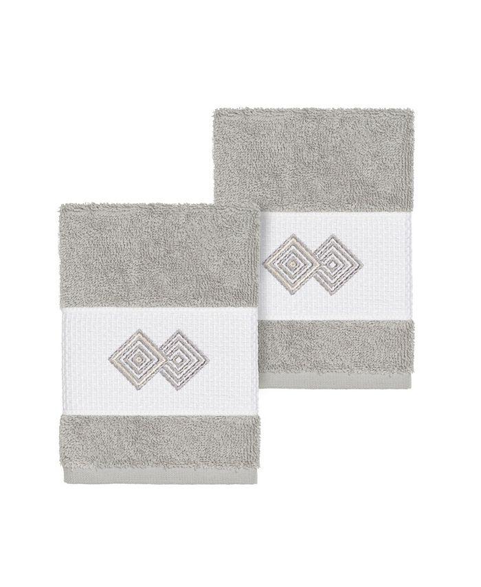 Linum Home - NOAH 2PC Embellished Washcloth Set