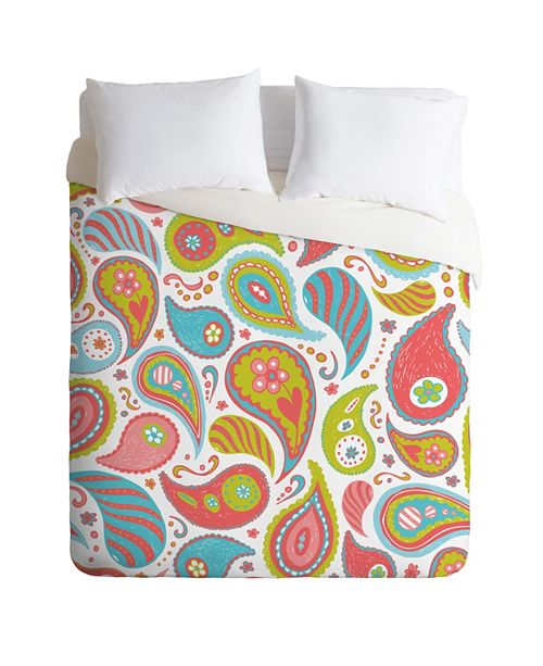 Deny Designs Heather Dutton Power Paisley Queen Duvet Set