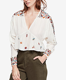 Free People Ava Embroidered Top