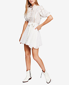 Free People Sydney Lace Pintucked Dress
