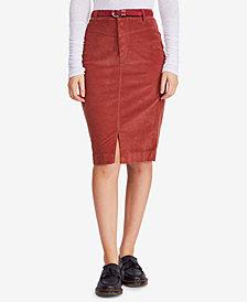 Free People Corduroy Pencil Skirt