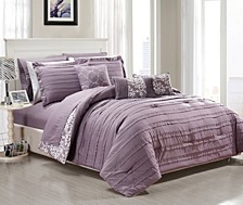Lea 10-Pc Queen Comforter Set