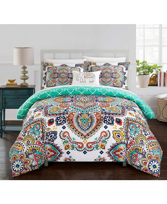 Chic Home - Raypur 8-Pc. King Bed In a Bag Comforter Set