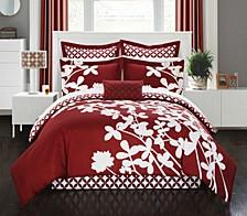 Iris 11-Pc King Comforter Set