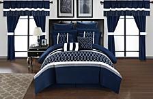 Dinah 24-Pc Queen Comforter Set