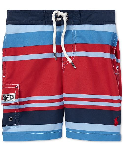 c2cf72fad5 Polo Ralph Lauren Little Boys Kailua Striped Swim Trunks & Reviews ...