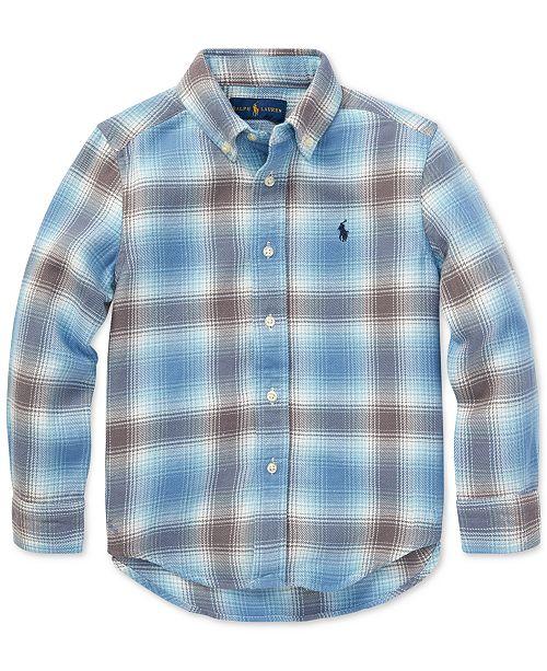 097ce2da9 Polo Ralph Lauren Big Boys Plaid Cotton Twill Shirt & Reviews ...