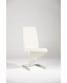 """Bella Luna """"Z"""" Frame Upholstered Side Chair (Set of 2)"""
