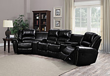 Bella Luna Reclining Bonded Leather Armless Love Seat