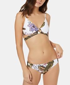 O'Neill Allure Paradise Printed Wrap Bikini Top & Cheeky Hipster Bottoms