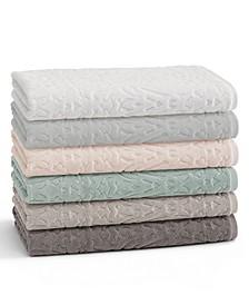 Toscana 100% Cotton Floral Jacquard Bath Towel Collection