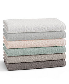 Kassatex Firenze 100% Cotton Floral Jacquard Bath Towel Collection