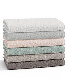 Kassatex Firenze 100% Cotton Floral Jacquard Bath Towel Collection