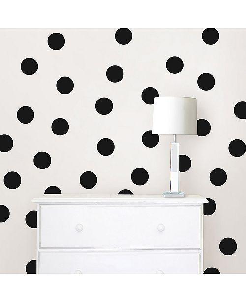 Brewster Home Fashions Matte Black Confetti Dots Set