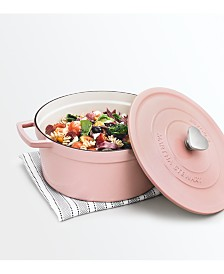 Martha Stewart Collection 6-Qt. Heart Knob Enameled Cast Iron Dutch Oven, Created for Macy's