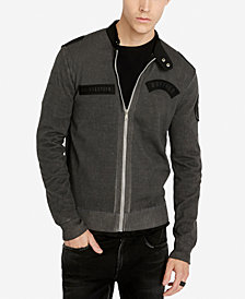Buffalo David Bitton Men's Classic Fit Full-Zip Wozip Sweater