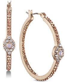 lonna & lilly Gold-Tone Crystal Evil Eye Hoop Earrings