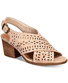 Baretraps Ilene Perforated Block-Heel Sandals