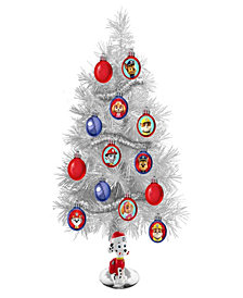 Kurt Adler 15-inch Paw Patrol Mini Tree with  Ornaments and Marshall Figure on Base