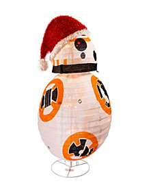 Kurt Adler 28-Inch Star Wars BB8 Collapsible Lighted Tinsel Décor