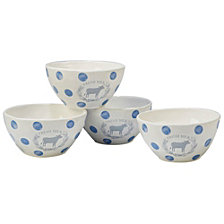 Certified International Urban Farmhouse 4-Pc. Ice Cream Bowl