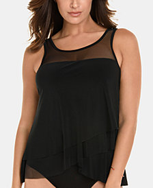 Miraclesuit Mirage Draped Tankini Top, Available in D/DD
