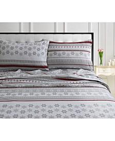 Snowmitten 170-GSM Cotton Flannel Printed Extra Deep Pocket Cal King Sheet Set