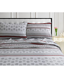 Snowmitten 170-GSM Cotton Flannel Printed Extra Deep Pocket Cal King Sheet Set
