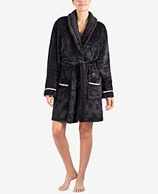 DKNY Signature Plush Short Wrap Robe