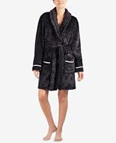 43ba3a4561 DKNY Signature Plush Short Wrap Robe