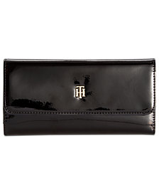 Tommy Hilfiger Julia Patent Flap Wallet