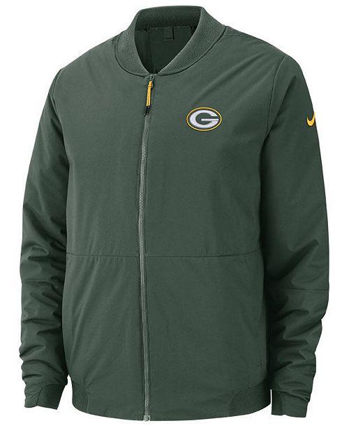 Nike Men s Green Bay Packers Bomber Jacket - Sports Fan Shop By Lids ... 40a5d4c37
